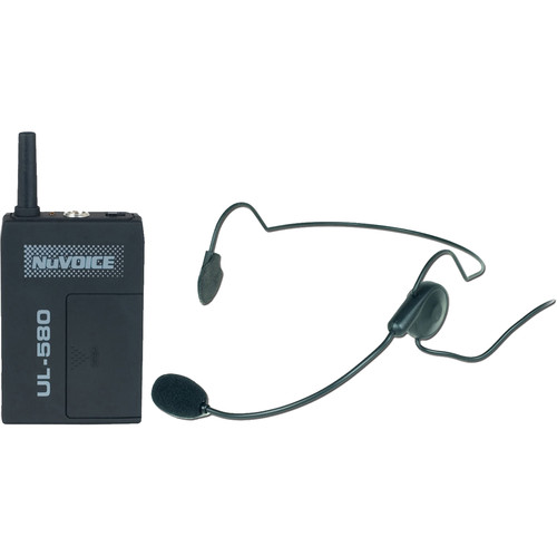 NuVoice ULBP-580 Bodypack Transmitter with Headset Mic for the 580 Wireless System (Frequency 0)
