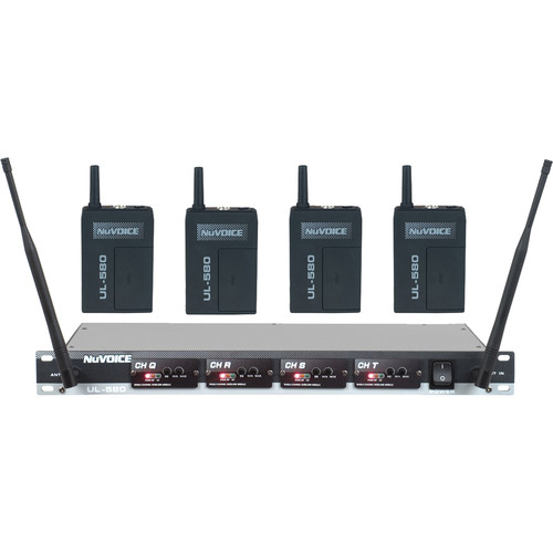 NuVoice UL-580 UHF Wireless Lavalier System (Frequency Set 4)
