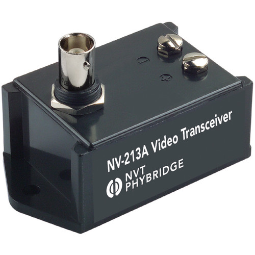NVT NV-213A-F Single Channel Passive Video Transceiver with Female-to-Female BNC Coupler (Black)