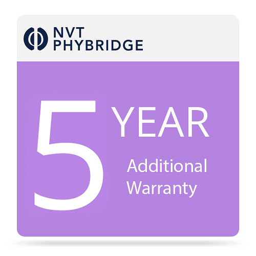 NVT Phybridge 5 Additional Years Warranty for Cleer 24-Port Switch with 1000 Watt Power Supply