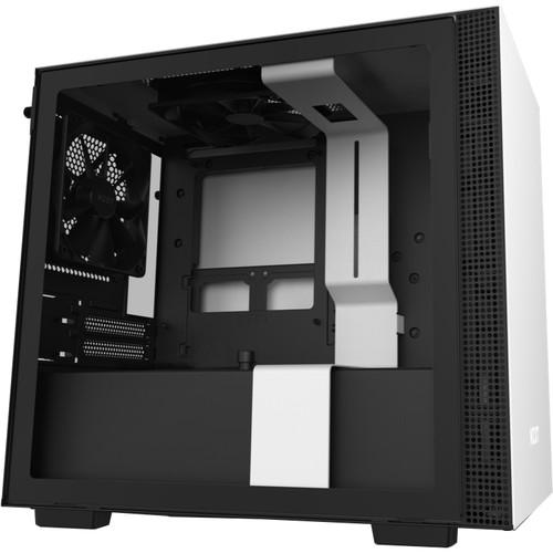 NZXT H210 Mini-Tower Case (Matte White/Black)