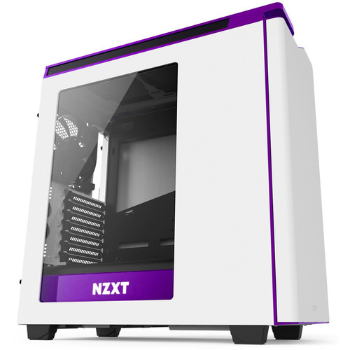 NZXT H440 Mid-Tower 2015 Case (Matte White and Purple, Windowed)