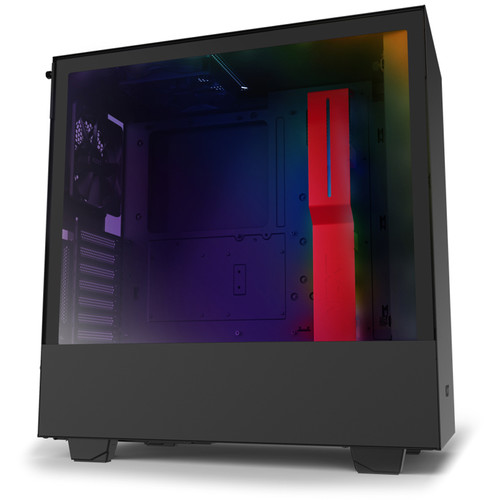 NZXT H510i Mid-Tower Case (Matte Black/Red)