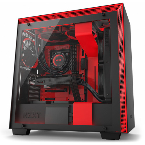 NZXT H700i Mid-Tower Case (Black/Red)