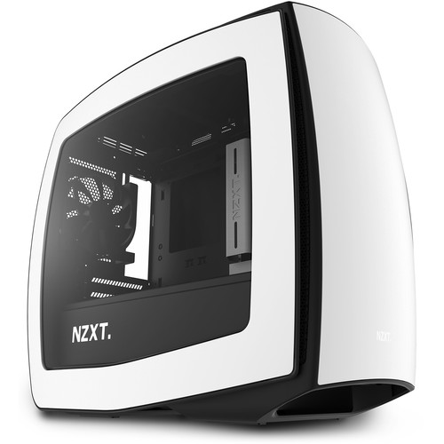 NZXT Manta Mini-ITX Case (Window, Matte White + Black)