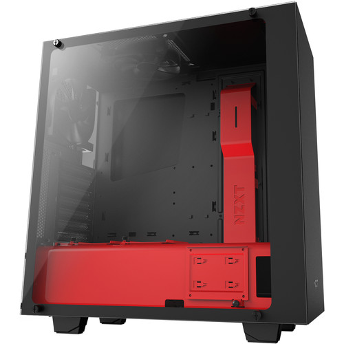 NZXT S340 Elite Mid-Tower Chassis (Black/Red)