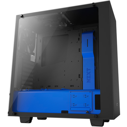 NZXT S340 Elite Mid-Tower Chassis (Black/Blue)