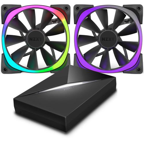 NZXT Aer RGB 140mm Fan & HUE+ Bundle