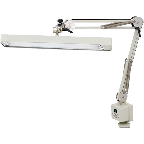 """O.C. White Longline Heavy-Duty Draftsman Lamp with Table Edge Clamp (37"""" Reach)"""