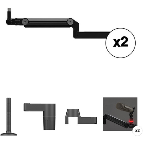 O.C. White Broadcast Two-Mic Mounting Kit with On-Air Lights for Ultima Modular Systems