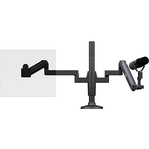 O.C. White Ultima Single Monitor Arm & Microphone Boom SMS Package (6-20 lb Load)