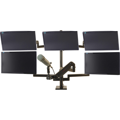 O.C. White ProBoom Ultima Gen2 LD Five-Monitor and Mic Boom Package for 5 to 15 lb Monitors