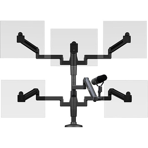 O.C. White Ultima Five Monitor Arm & Microphone Boom SMS Package (4-14 lb Load)