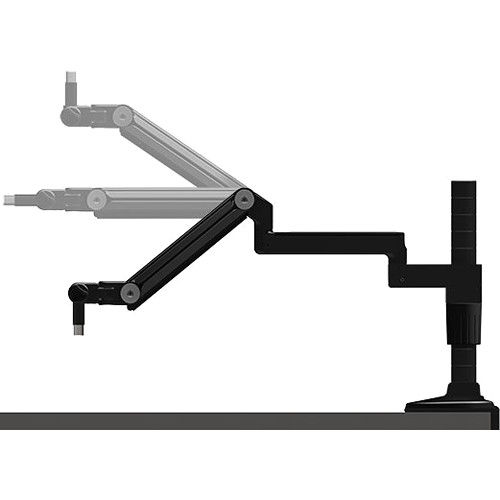 "O.C. White ProBoom Ultima LP Adjustable Microphone Boom with 12"" Fixed Horizontal Arm (12"" Vertical Modular Clamp/Bolt Through Riser Assembly)"