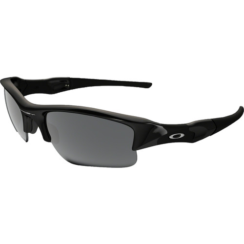 Oakley Flak Jacket XLJ Sunglasses (Jet Black Frames, Black Iridium Lenses)