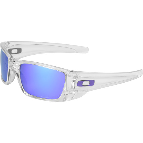 Oakley Fuel Cell Sunglasses (Clear Frames, Violet Iridium Lenses)