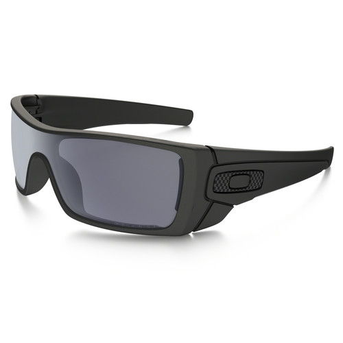 Oakley Batwolf Sunglasses (Matte Black Frames, Polarized Grey Lenses)