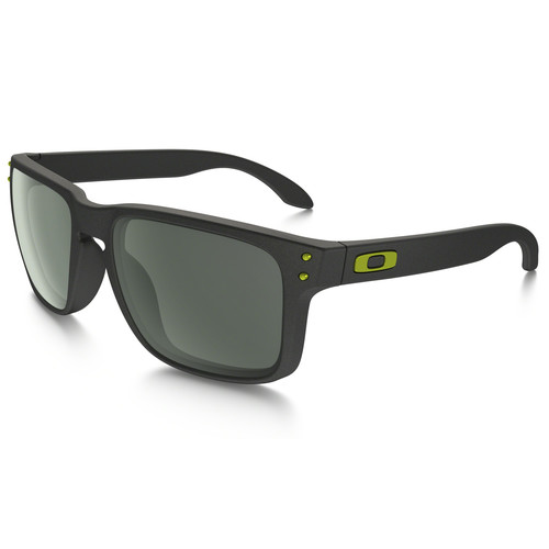 Oakley Holbrook Sunglasses (Steel Frames, Dark Grey Lenses)