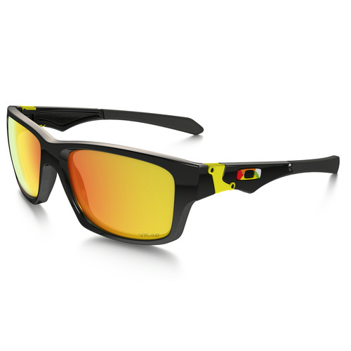 Oakley Valentino Rossi Sunglasses (Polished Black Frames, Fire Iridium Lenses)