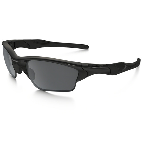 Oakley Half Jacket 2.0 XL Sunglasses (Polished Black Frames, Black Iridium Lenses)