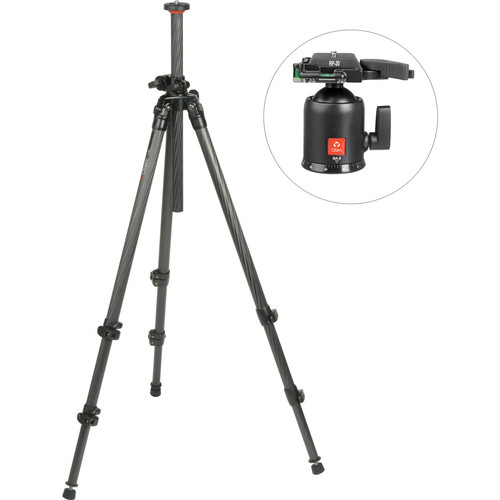 Oben CC-2310LA 3-Section Carbon Fiber Lateral Tripod Legs with BA-2 Ball Head