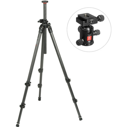 Oben CC-2310LA 3-Section Carbon Fiber Lateral Tripod Legs with BB-0 Ball Head