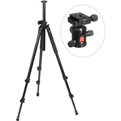 Oben AC-2310LA 3-Section Aluminum Lateral Tripod With BB-0 Ball Head Kit