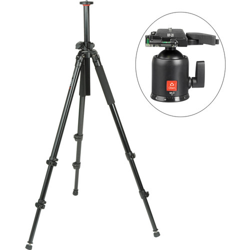 Oben AC-2320LA 3-Section Aluminum Lateral Tripod With BA-2 Ball Head Kit