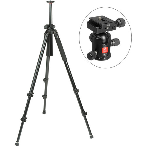 Oben AC-2320LA 3-Section Aluminum Lateral Tripod With BB-0 Ball Head Kit