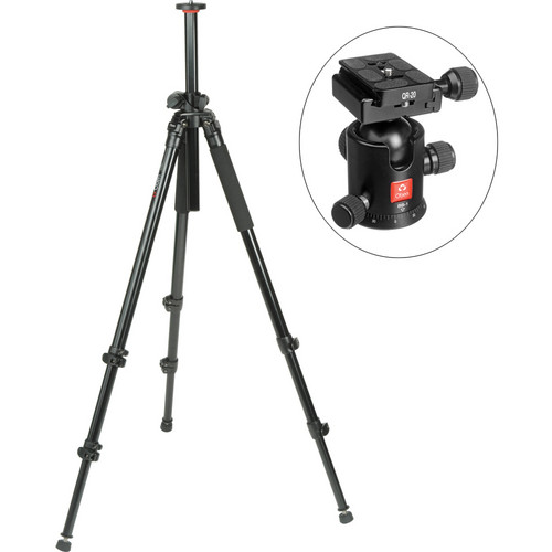 Oben AC-2320LA 3-Section Aluminum Lateral Tripod With BB-1 Ball Head Kit