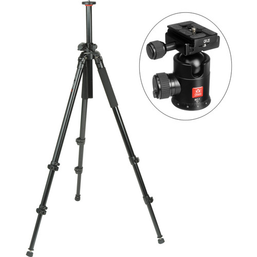 Oben AC-2320LA 3-Section Aluminum Lateral Tripod With BC-1 Ball Head Kit