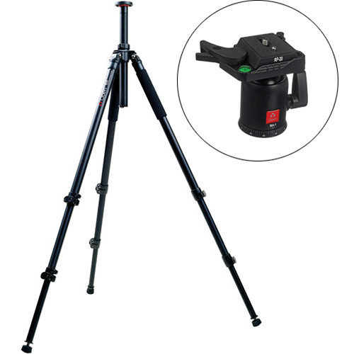 Oben AC-2361 3 Section Aluminum Tripod with BA-1 Ball Head