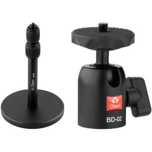 Oben Aluminum Desk Stand with BD-02 Mini Ball Head Kit