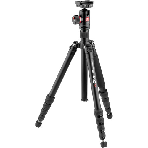 Oben AT-3565 Folding Aluminum Travel Tripod with BC-217T Ball Head