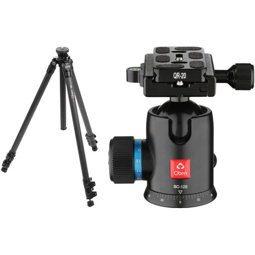 Oben CC-2361 Carbon Fiber Tripod with BC-126 Ball Head Kit