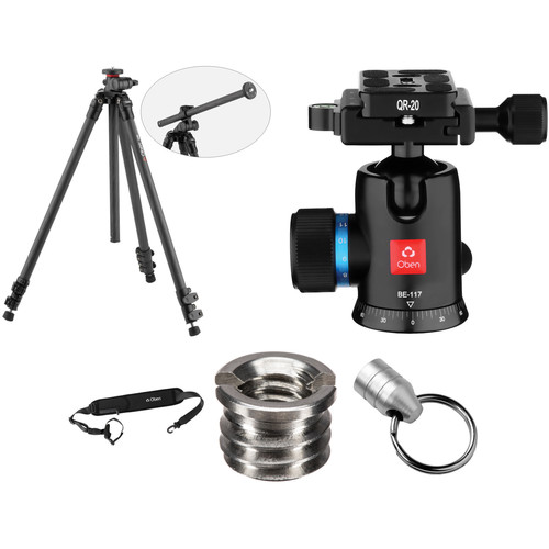 Oben CC-2361L Carbon Fiber Tripod with BE-117 Ball Head Kit