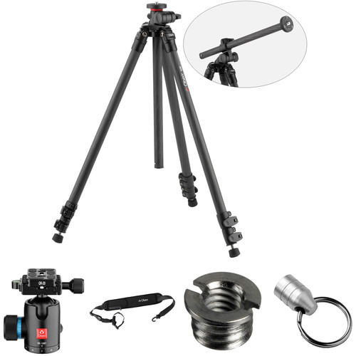 Oben CC-2361L Carbon Fiber Lateral Tripod with BE-126T Ball Head Kit