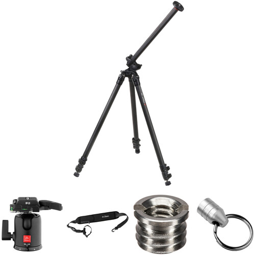 Oben CC-2381L Carbon Fiber Lateral Tripod with BA-126 Ball Head Kit