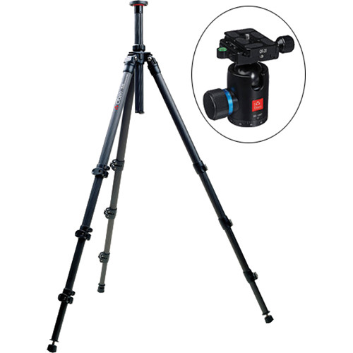 Oben CC-2461 Carbon Fiber Tripod with BE-126T Ball Head Kit