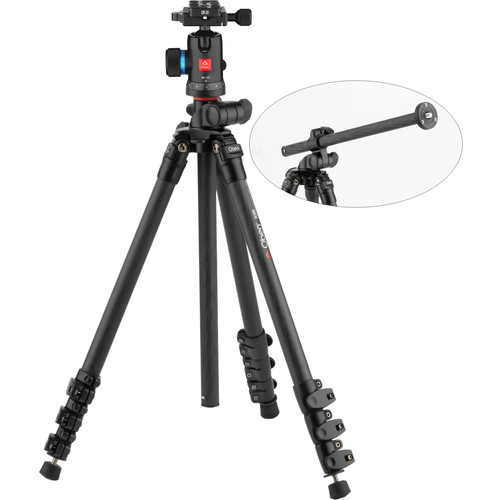 Oben CC-2461L Carbon Fiber Lateral Tripod with BE-117 Ball Head