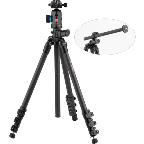 Oben CC-2461L Carbon Fiber Lateral Tripod with BC-126 Ball Head
