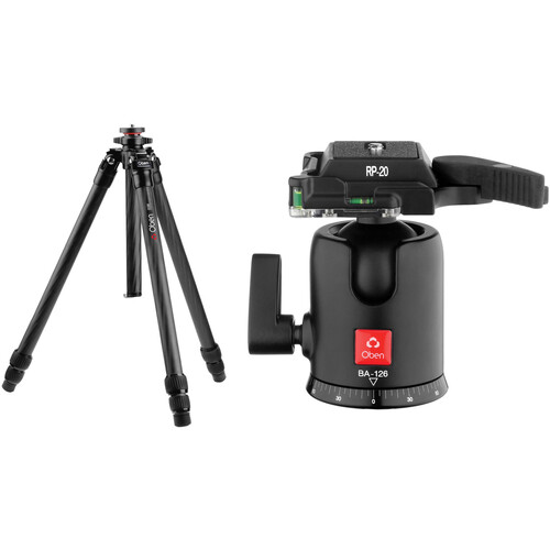 Oben CT-2381 Carbon Fiber Tripod and BA-126 Ball Head Kit