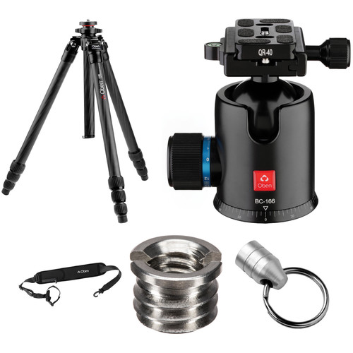 Oben CT-2491 Carbon Fiber Tripod and BC-166 Ball Head Kit