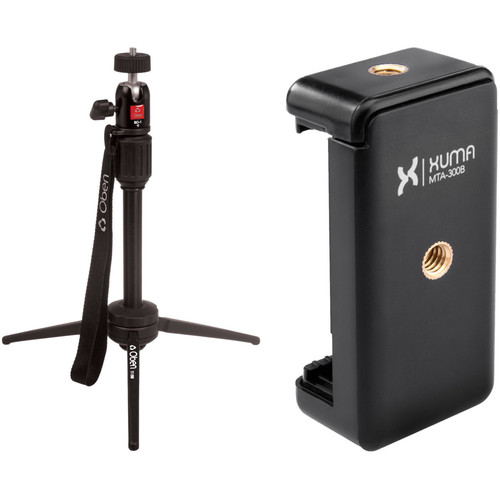 Oben TT-200 Tabletop Tripod and Xuma Smartphone Mount Kit