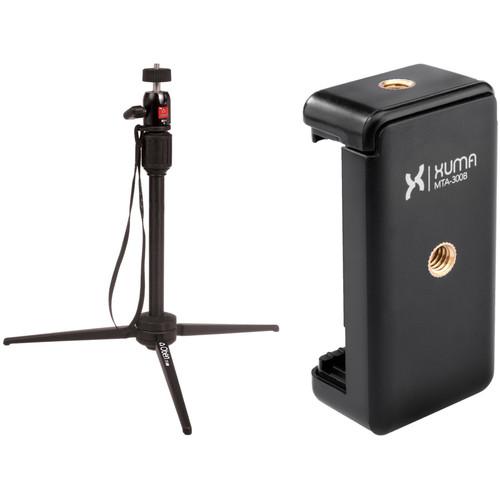 Oben TT-300 Tabletop Tripod and Xuma Smartphone Mount Kit