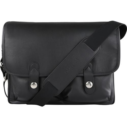 "Oberwerth Boulevard 11"" Leather Photo Bag (Black Lining/Red Insert)"