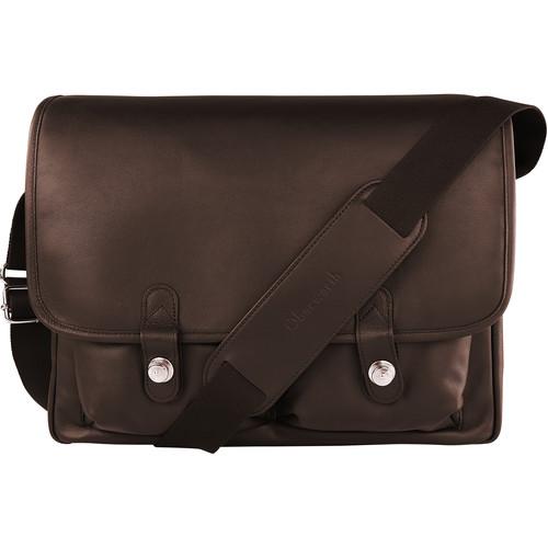 "Oberwerth Boulevard 15"" Leather Photo Bag (Dark Brown)"