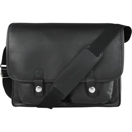 "Oberwerth Boulevard 15"" Leather Photo Bag (Black)"