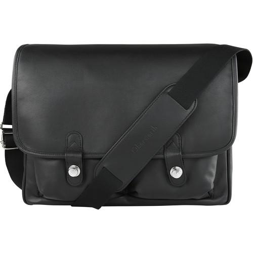 "Oberwerth Boulevard 15"" Leather Photo Bag (Black Lining/Red Insert)"