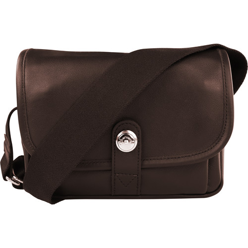 Oberwerth Boulevard Mini Leather Photo Bag (Dark Brown)